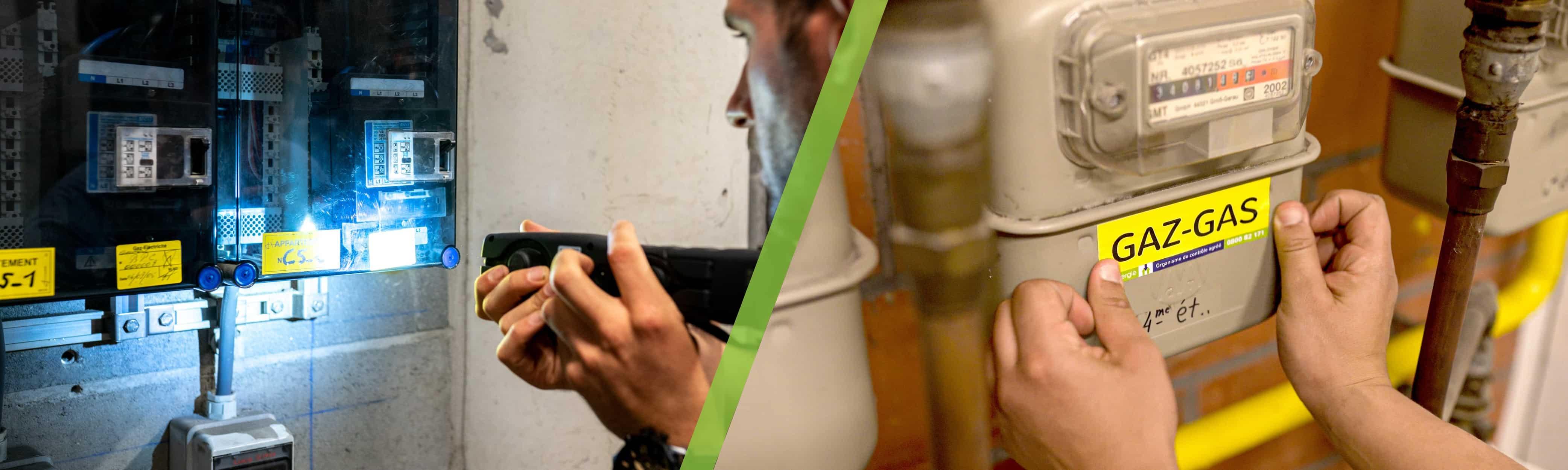 Visite combi : contrôle électrique + contrôle gaz