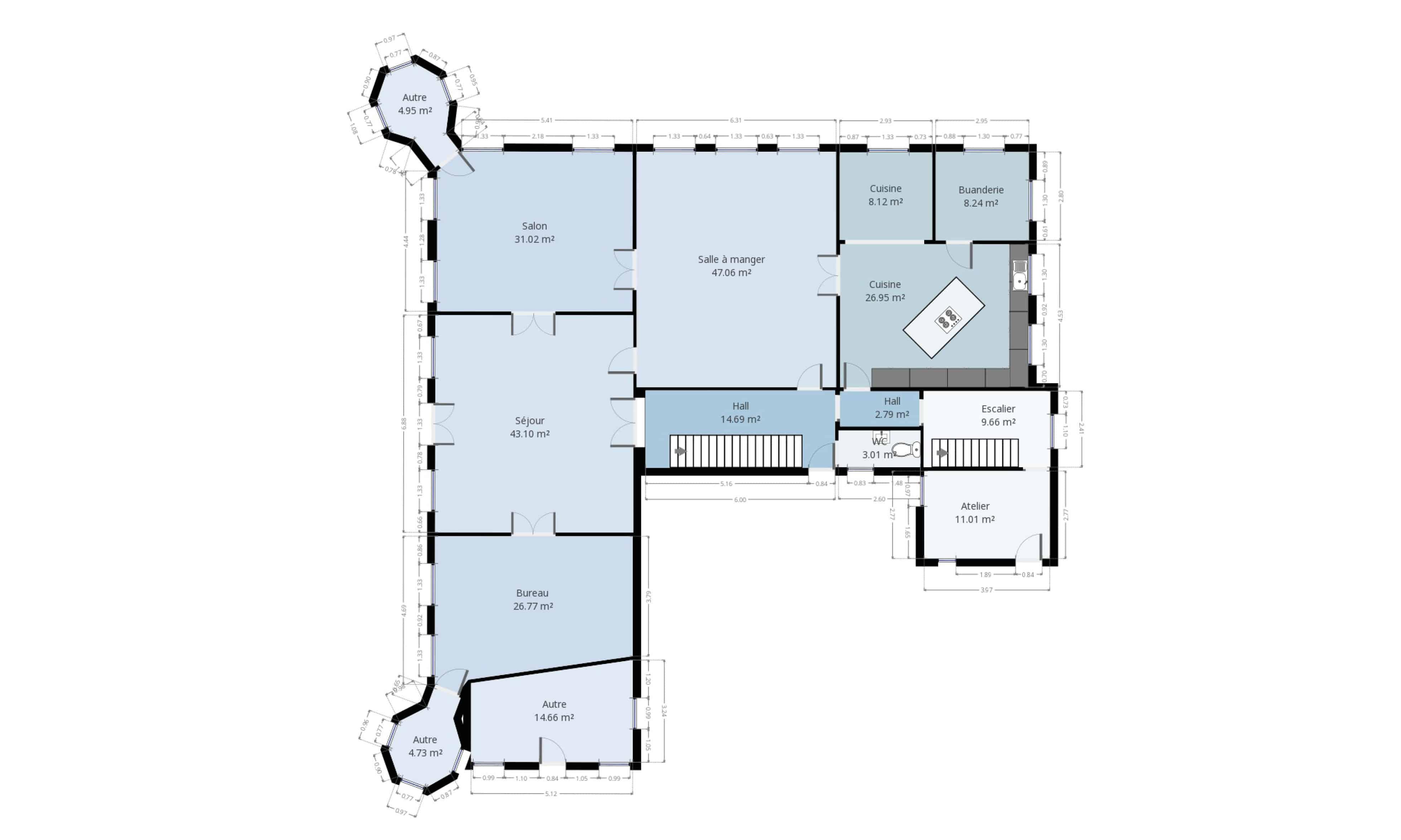 Exemple de plan 2D réalisé par Certinergie