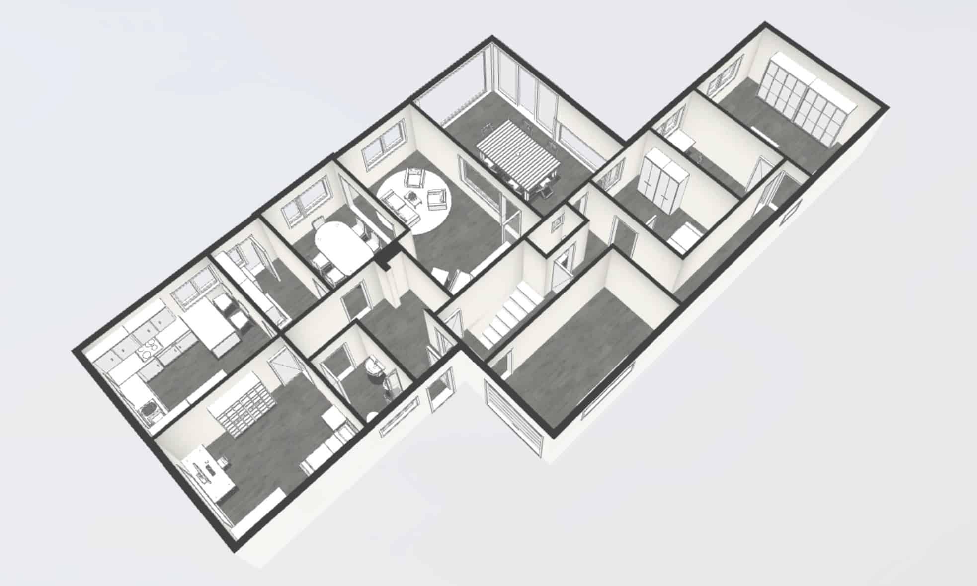 Exemple de plan 3D réalisé par Certinergie